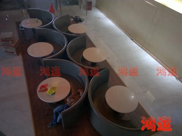 茶餐厅家具 弧形卡座沙发CCTSF-1038