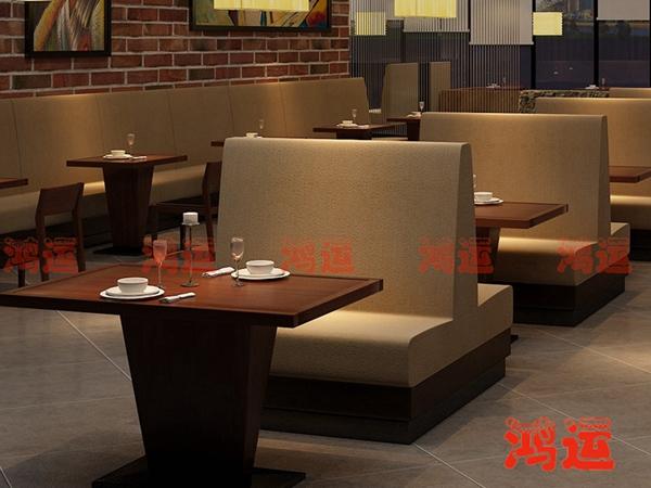 卡座沙发在餐厅、酒吧中合理的色彩搭配技巧