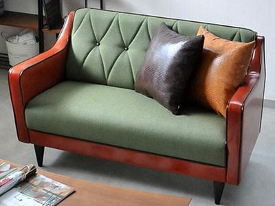 布皮结合咖啡厅沙发