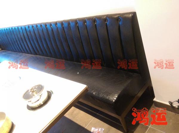超纤皮革卡座沙发