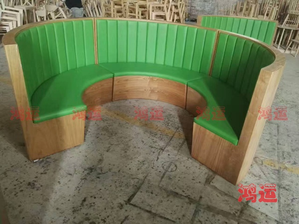 圆弧形卡座沙发定制 茶餐厅沙发cctsf-1098